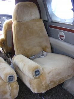 Aircraft Sheepskin Seatcover RamsHead