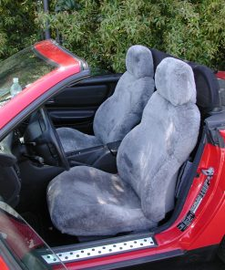 Car Headrest Sheepskin Headrest Covers RamsHead