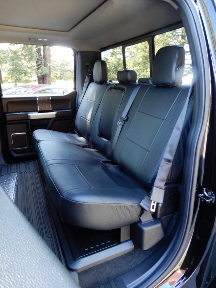 Truck Leather Backseat Covers RamsHead