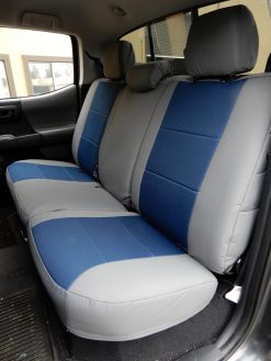 Buy Truck Nylon Two Tone Front & Back Toyota Tacoma RamsHead Seat Covers