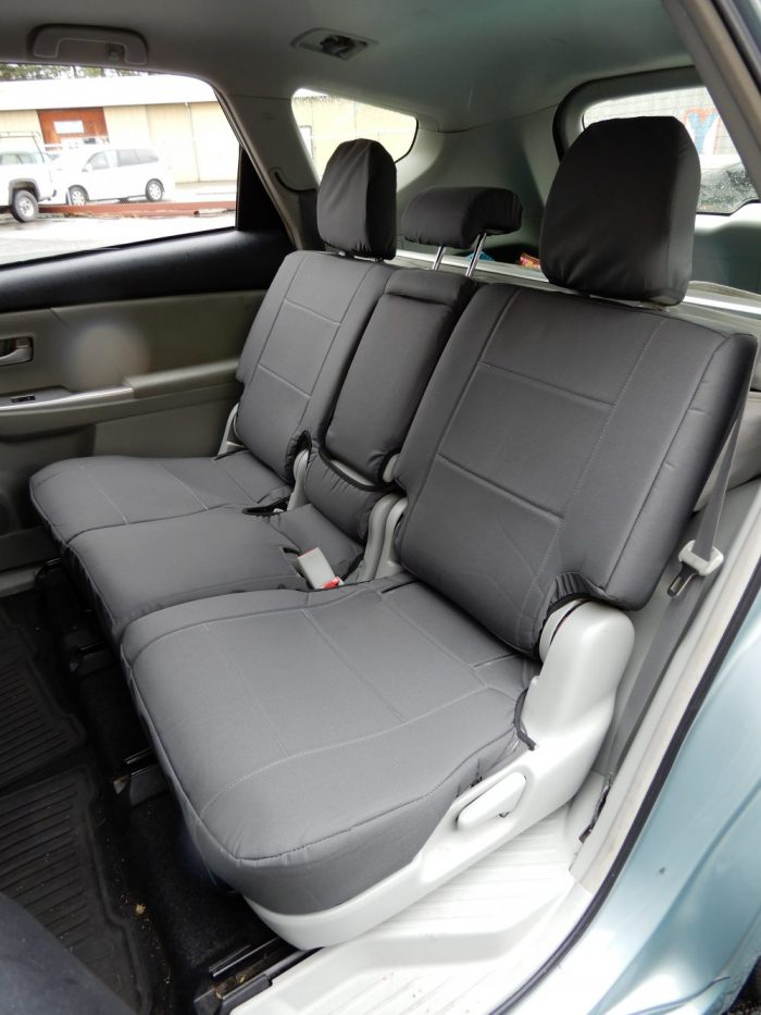 Buy Car Nylon Charcoal C-02-S Front & Rear Seat Covers 14 Toyota Prius V RamsHead Seat Covers