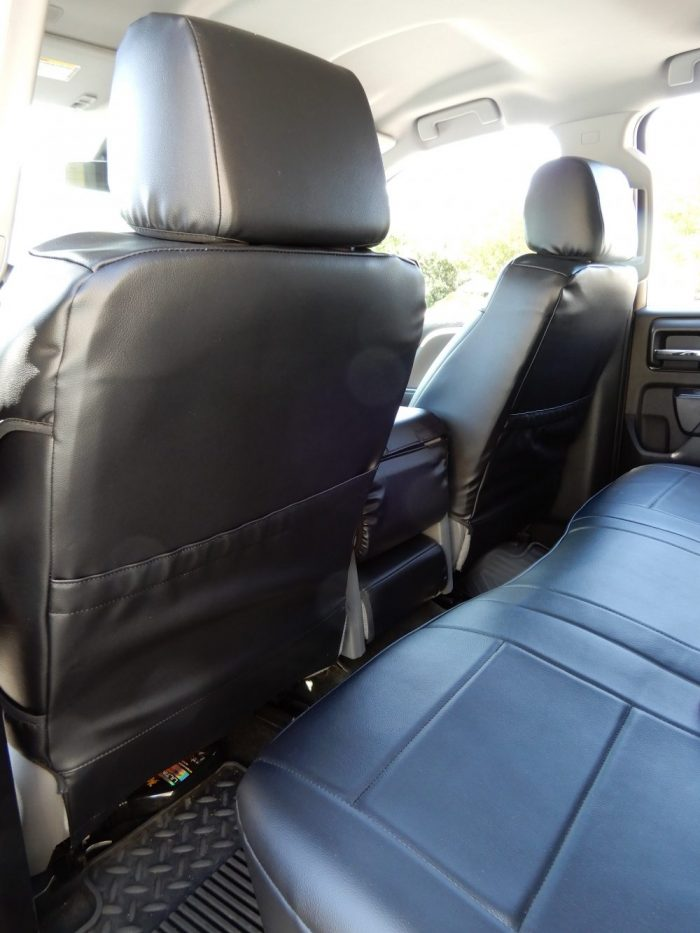 Buy Truck Leatherette Black Front & Back 17 Chevy Silverado Double Cab RamsHead