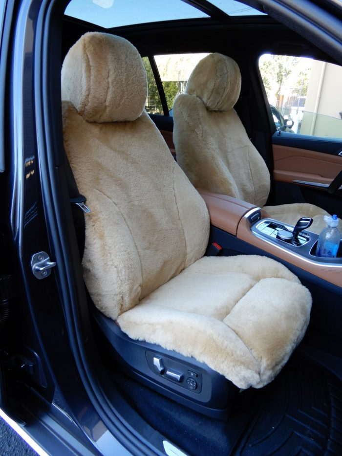 Buy SUV Sheepskin Camel #06 - Style#2 LB - 19 BMW X5 RamsHead Seat Covers