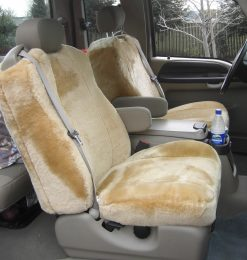 Buy Truck Sheepskin Camel #06 LB Bucket Style #1 - 04-06 Ford F250 Super Cab RamsHead Seat Covers